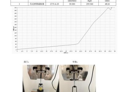 ZTY-A-25吊式弹簧减震器外壳强度测试报告